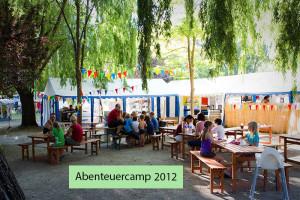 abenteuercamp 2012 Gemeinschaftsbereich des Familiencamps