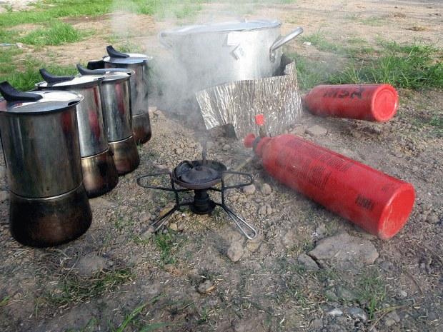 Küche im Seekajakcamp