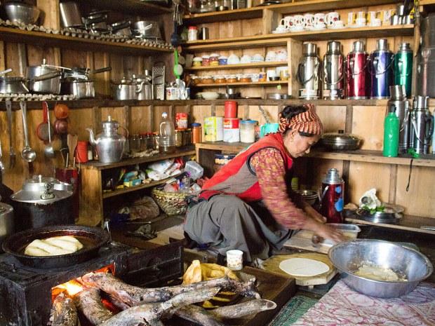 Küche einer Nepalesischen Familie