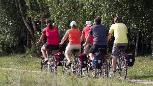 Die Gruppe von Fahrradfahrern