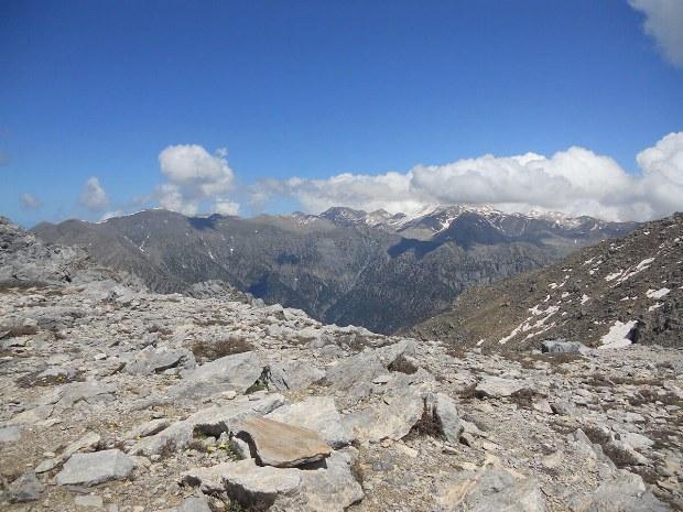 Auf dem Gipfel des Berges