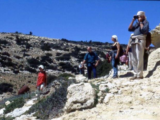 Die Gäste bewundern den Ausblick bei der Wandeurng