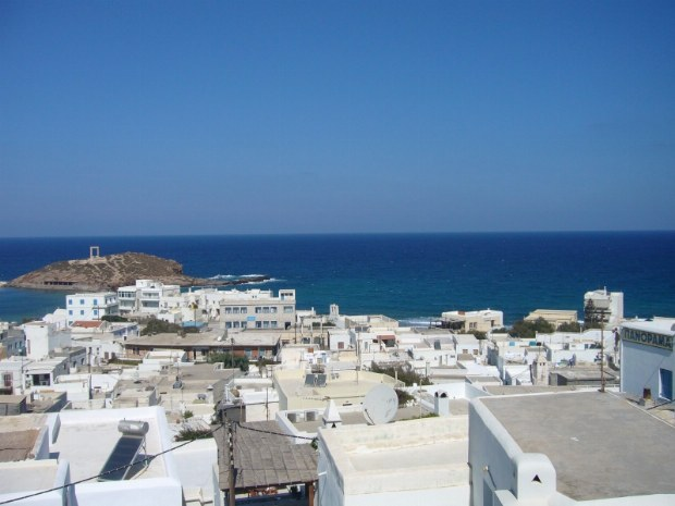 Typische griechische Stadt am Meer