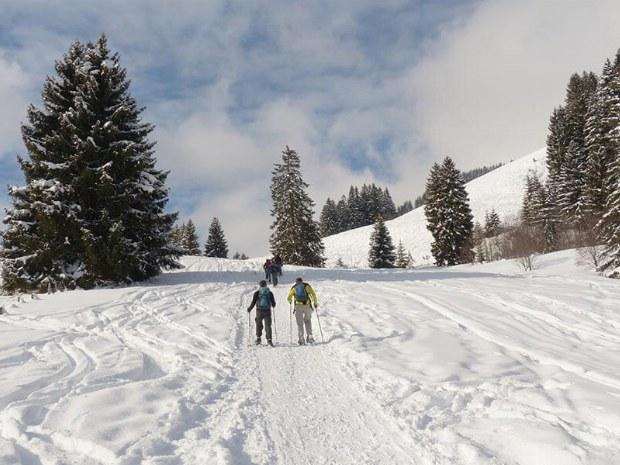 Sportliche Aktiv sein in winterlicher Natur