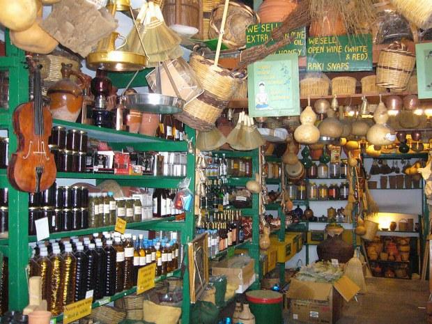 Ein Geschäft, in dem man Öl und andere Spezialitäten kaufen kann